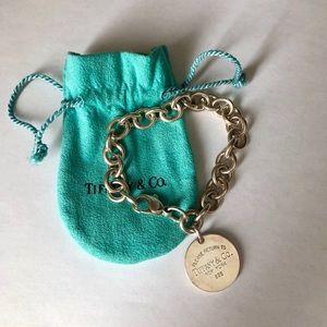 Tiffany & Co round tag bracelet